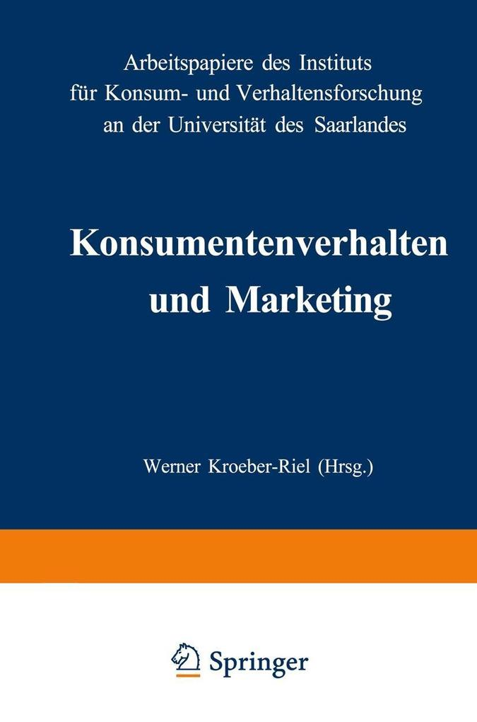 Konsumentenverhalten und Marketing als eBook Do...
