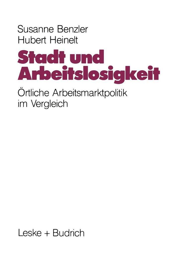 Stadt und Arbeitslosigkeit als eBook Download v...