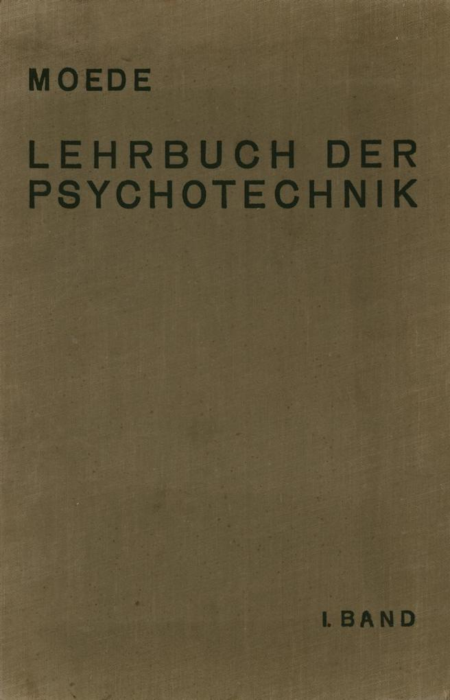 Lehrbuch der Psychotechnik als eBook Download v...