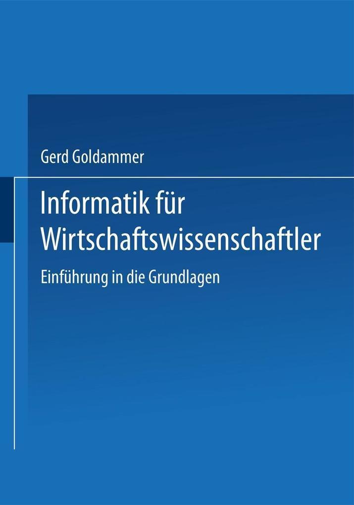 Informatik fur Wirtschaft und Verwaltung als eB...
