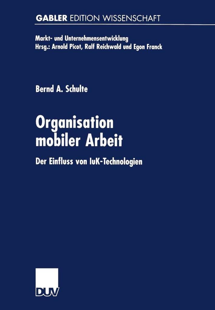 Organisation mobiler Arbeit als eBook Download von
