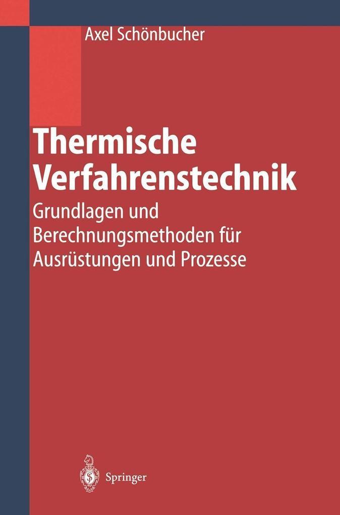 Thermische Verfahrenstechnik als eBook Download...