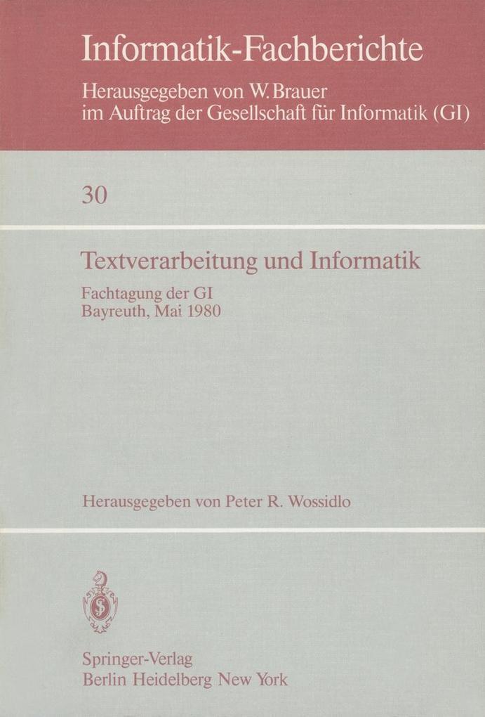 Textverarbeitung und Informatik als eBook Downl...