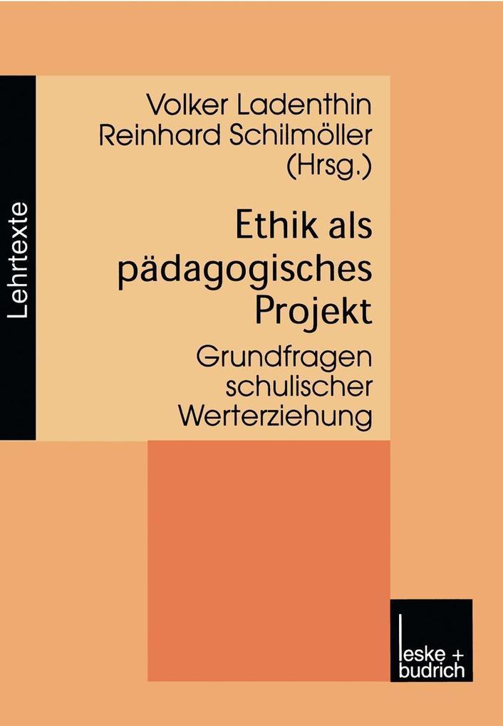 Ethik als padagogisches Projekt als eBook Downl...