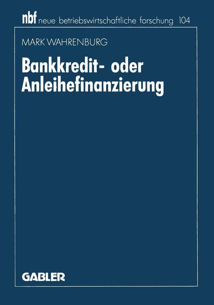 Bankkredit- oder Anleihefinanzierung als eBook ...
