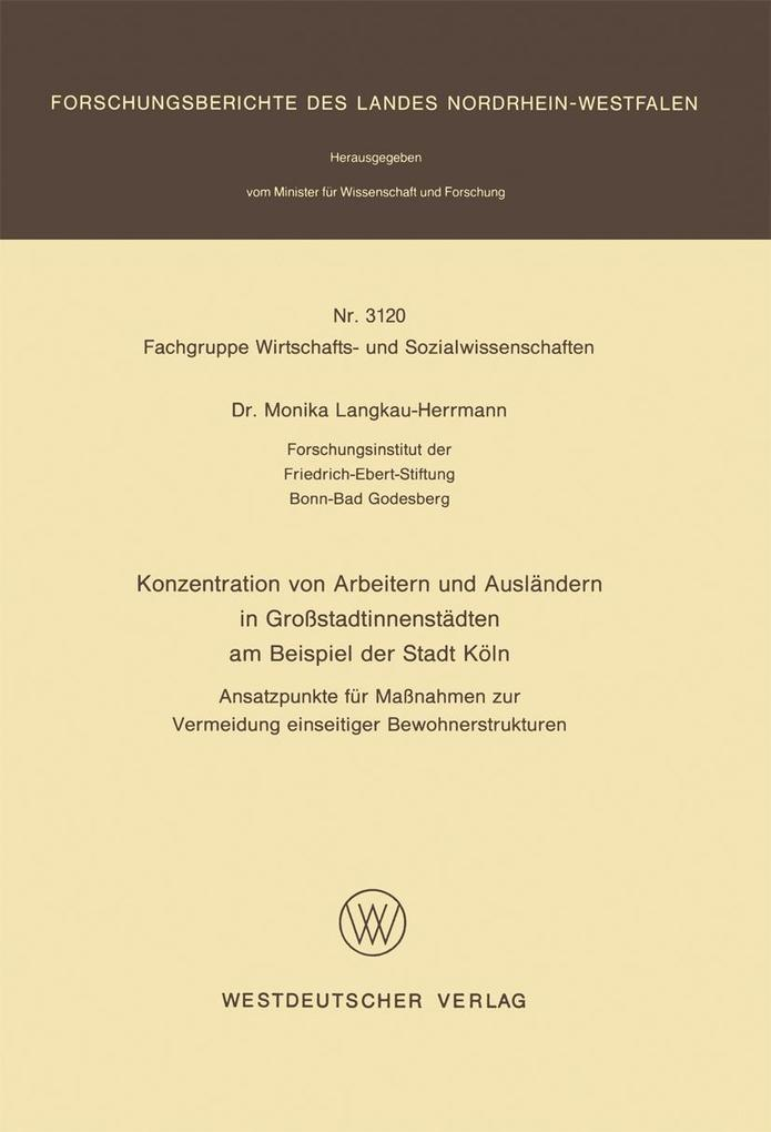 Konzentration von Arbeitern und Auslandern in G...