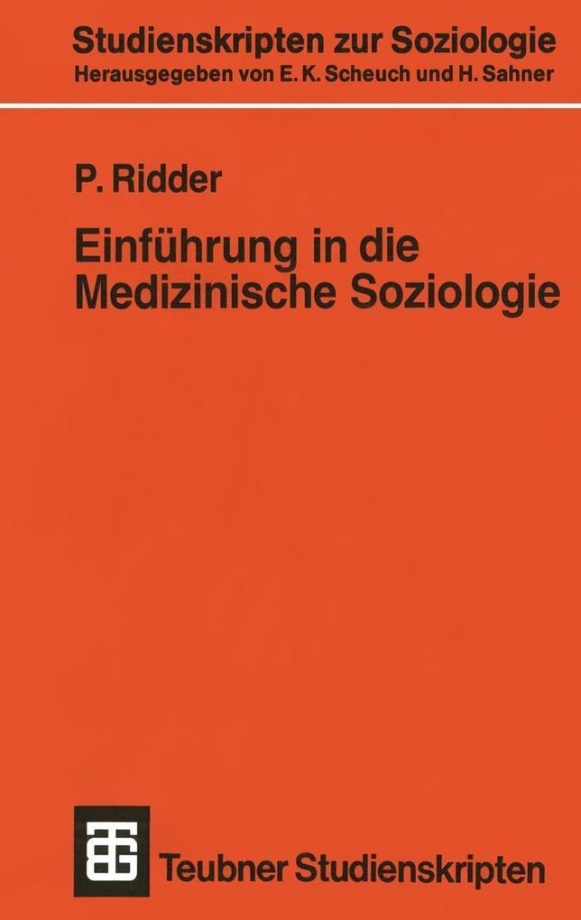 Einfuhrung in die Medizinische Soziologie als e...