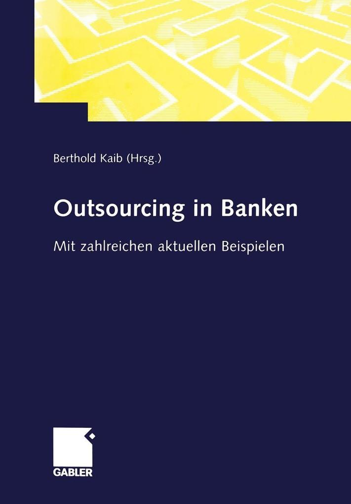 Outsourcing in Banken als eBook Download von