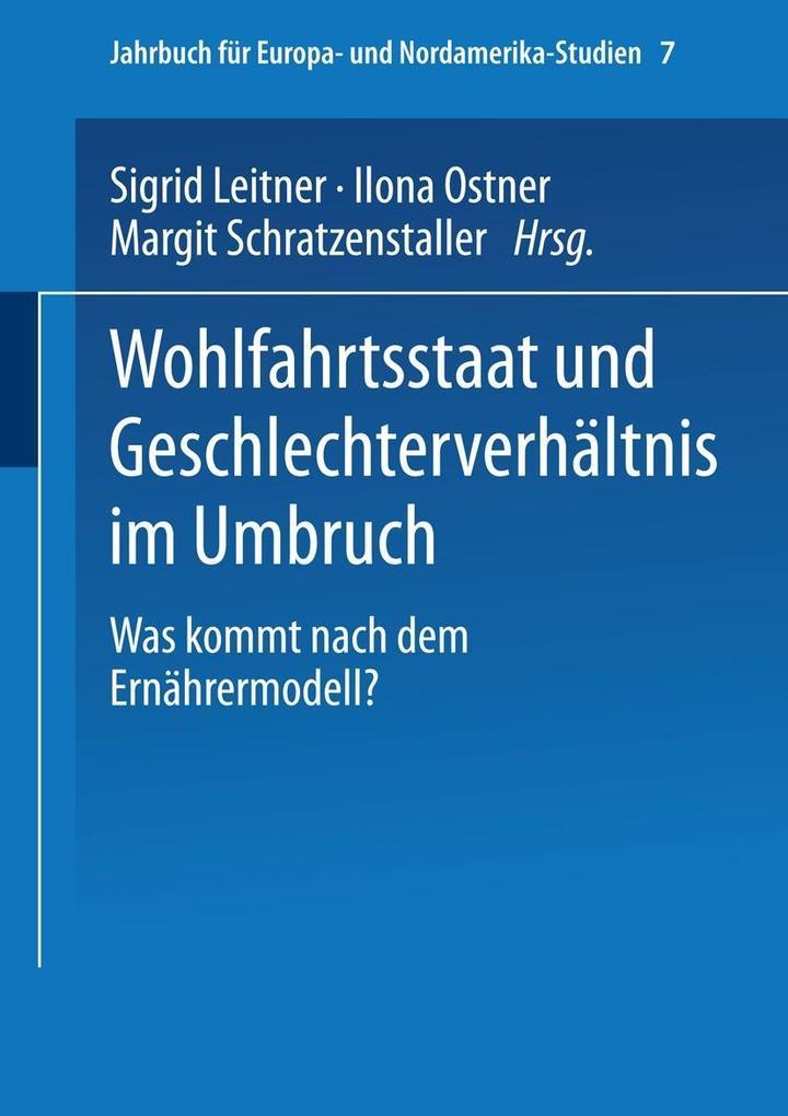 Wohlfahrtsstaat und Geschlechterverhaltnis im U...