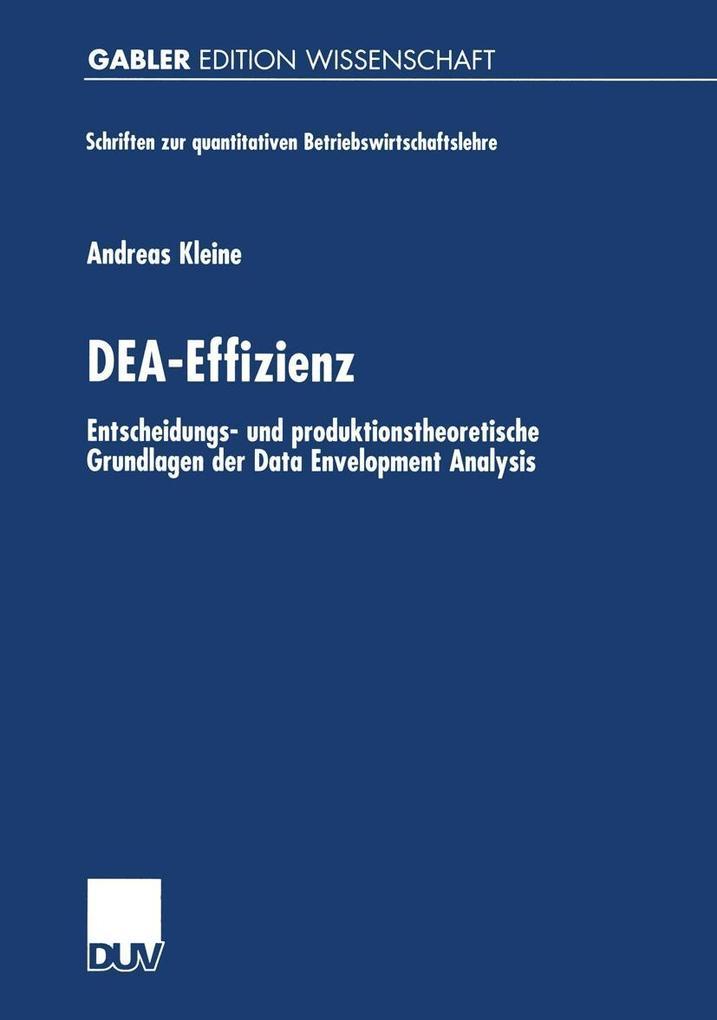 DEA-Effizienz als eBook Download von Andreas Kl...