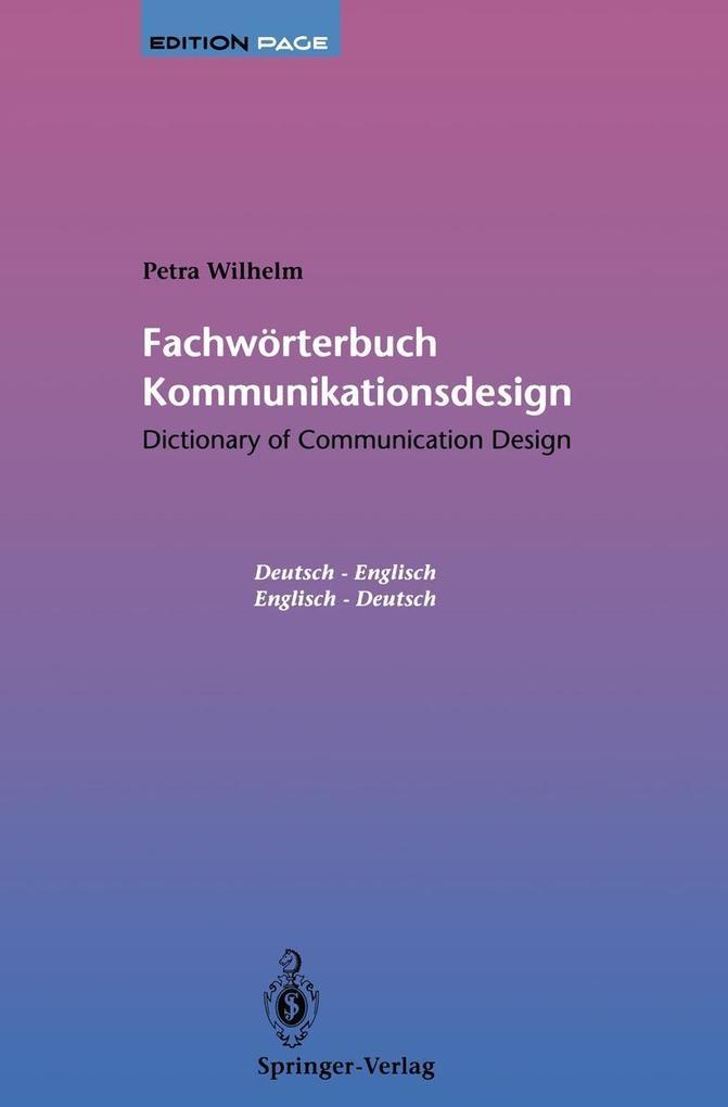 Fachworterbuch Kommunikationsdesign / Dictionar...