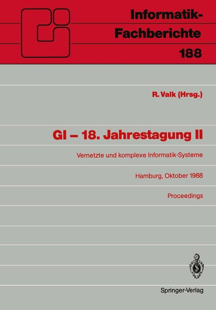GI - 18. Jahrestagung II als eBook Download von