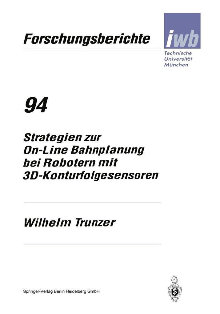 Strategien zur On-Line Bahnplanung bei Robotern...