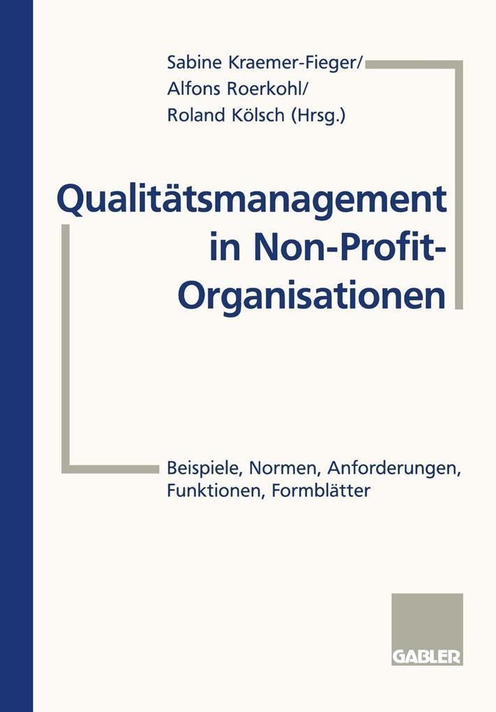 Qualitatsmanagement in Non-Profit-Organisatione...