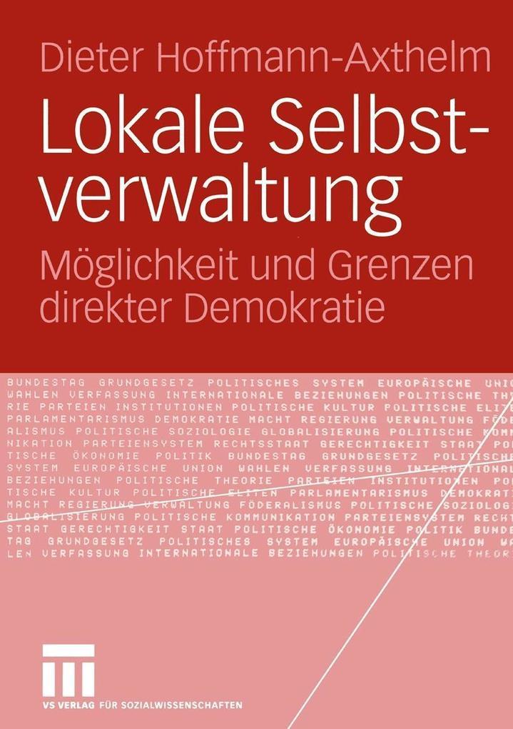 Lokale Selbstverwaltung als eBook Download von ...