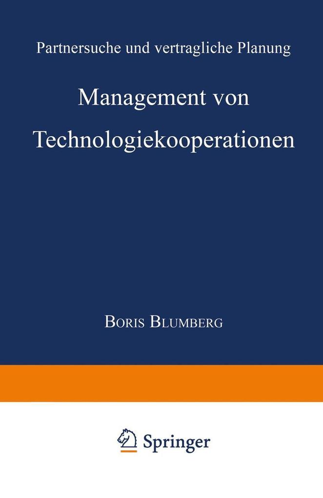 Management von Technologiekooperationen als eBo...