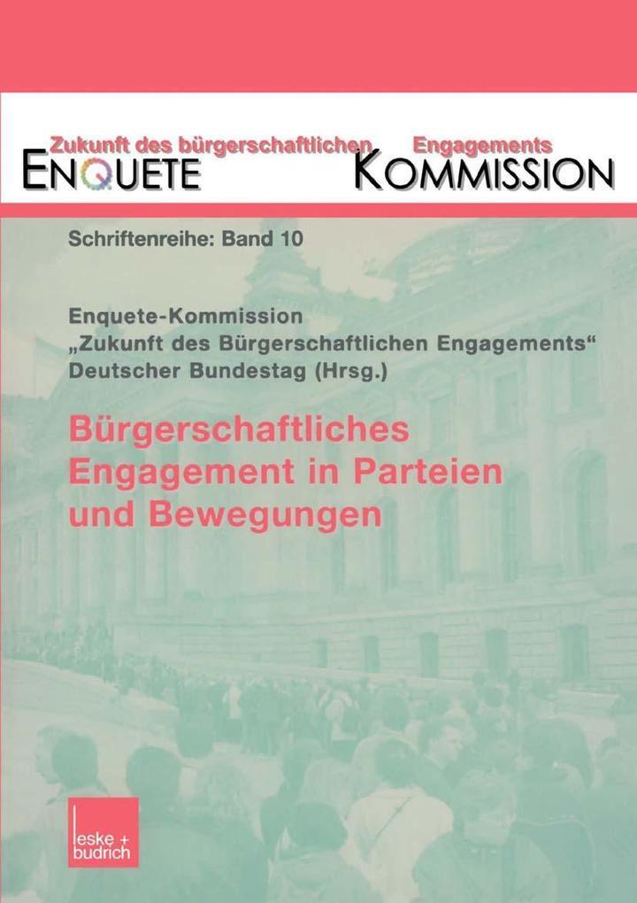 Burgerschaftliches Engagement in Parteien und B...