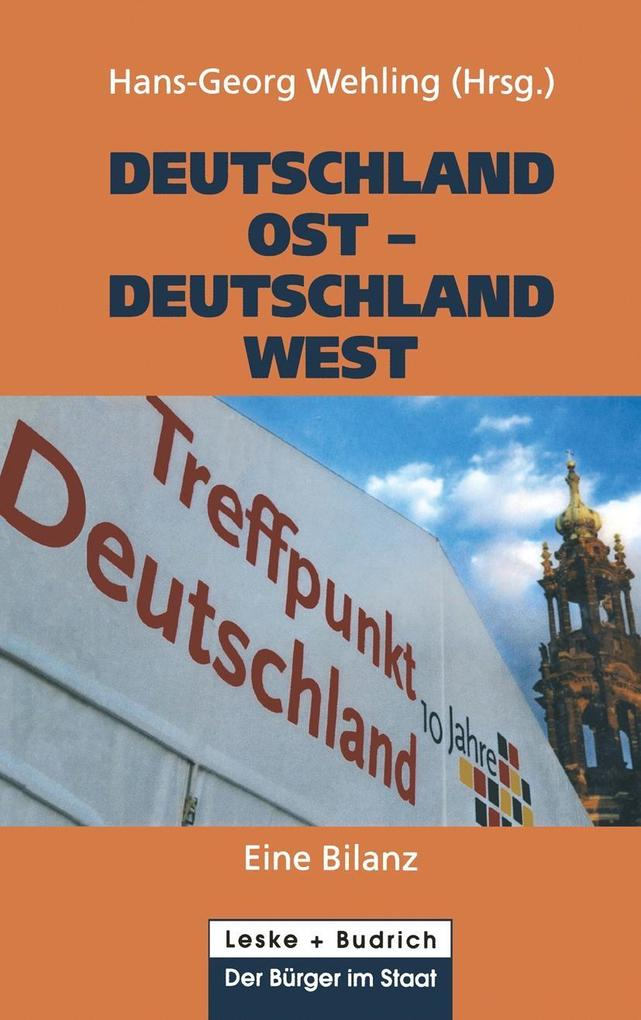 Deutschland Ost - Deutschland West als eBook Do...