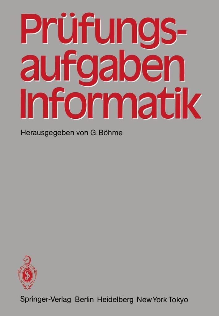 Prufungsaufgaben Informatik als eBook Download von