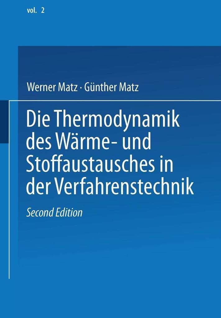 Die Thermodynamik des Warme- und Stoffaustausch...