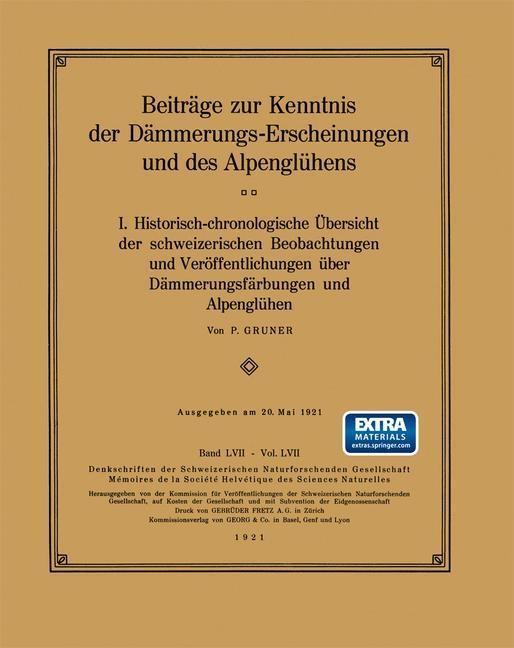 Beitrage zur Kenntnis der Dammerungs-Erscheinun...