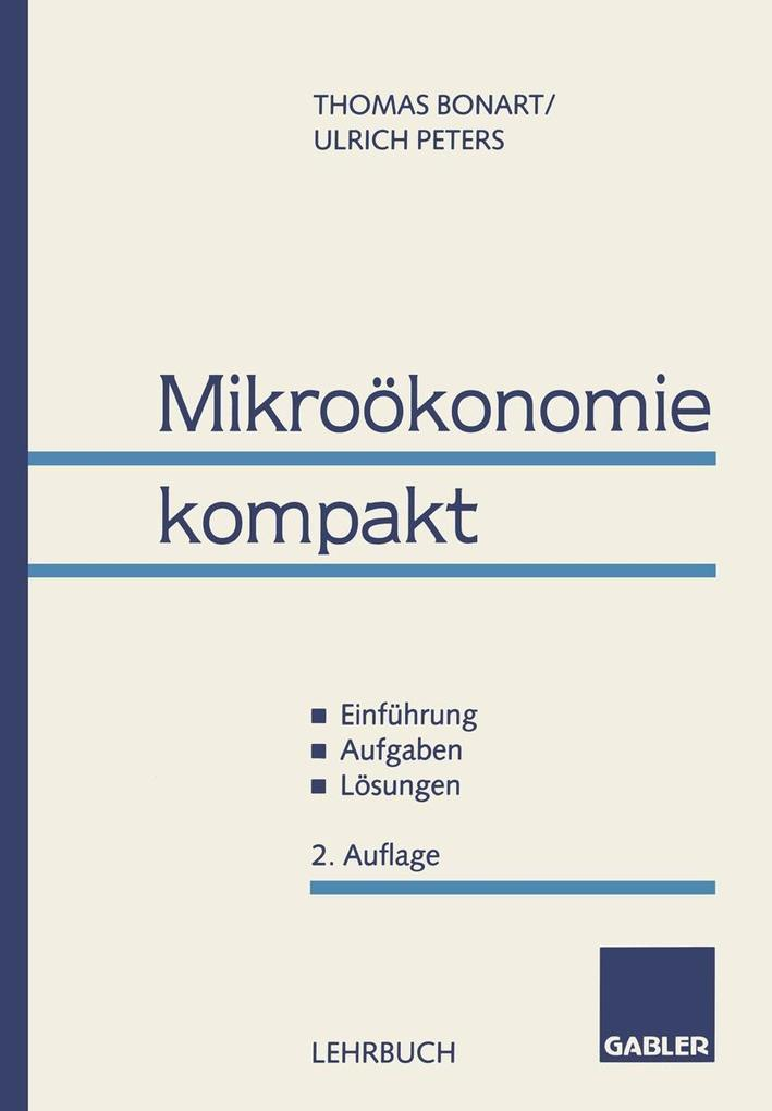 Mikrookonomie kompakt als eBook Download von Th...