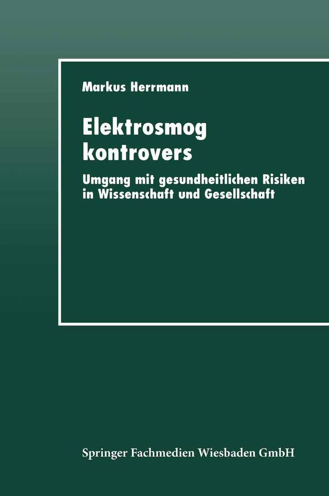 Elektrosmog kontrovers als eBook Download von
