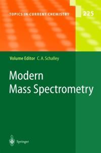 Modern Mass Spectrometry als eBook Download von