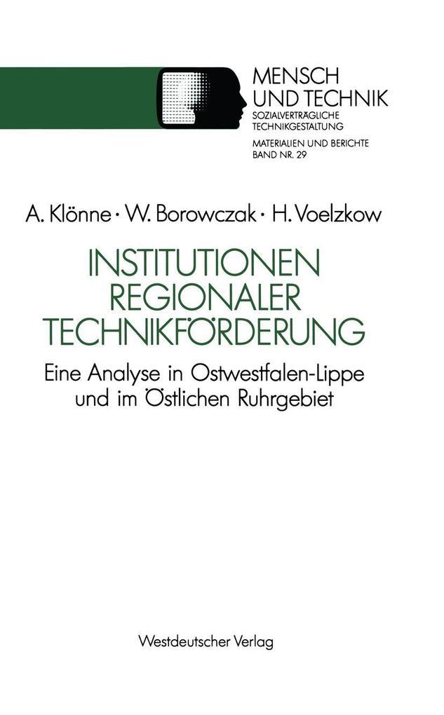 Institutionen regionaler Technikforderung als e...