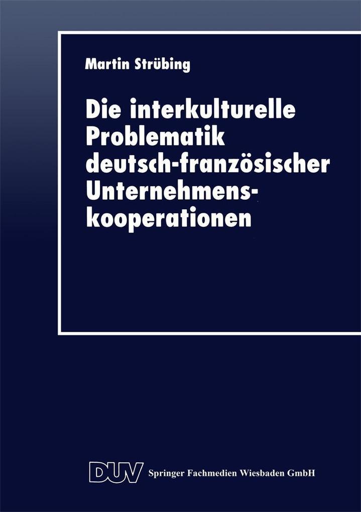 Die interkulturelle Problematik deutsch-franzos...