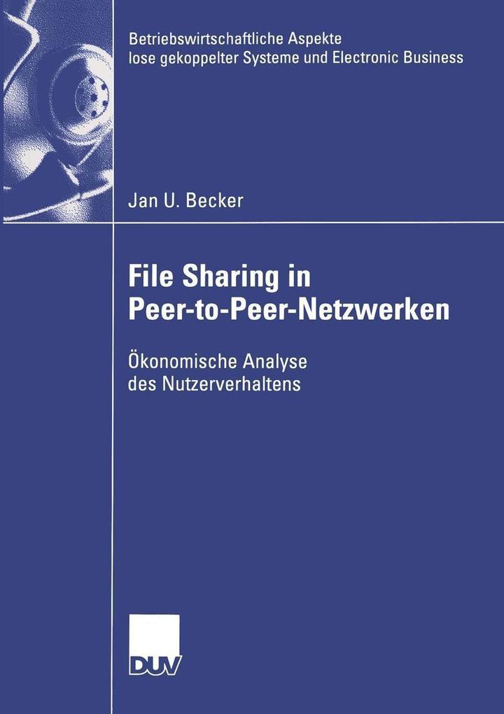 File Sharing in Peer-to-Peer-Netzwerken als eBo...