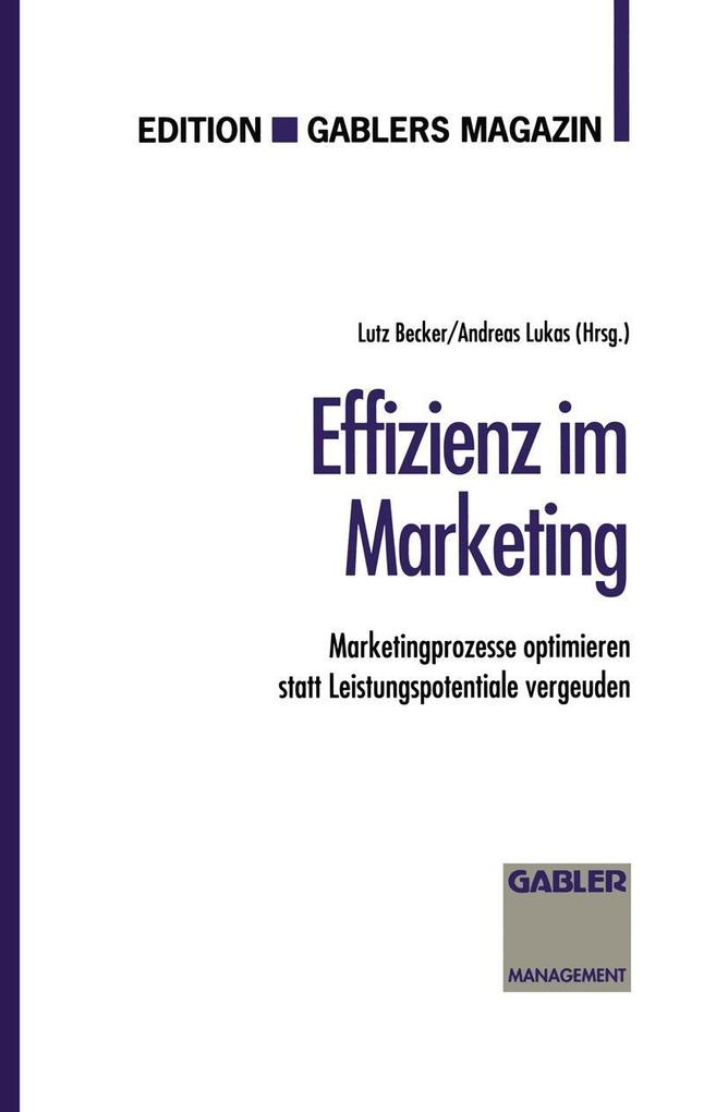 Effizienz im Marketing als eBook Download von