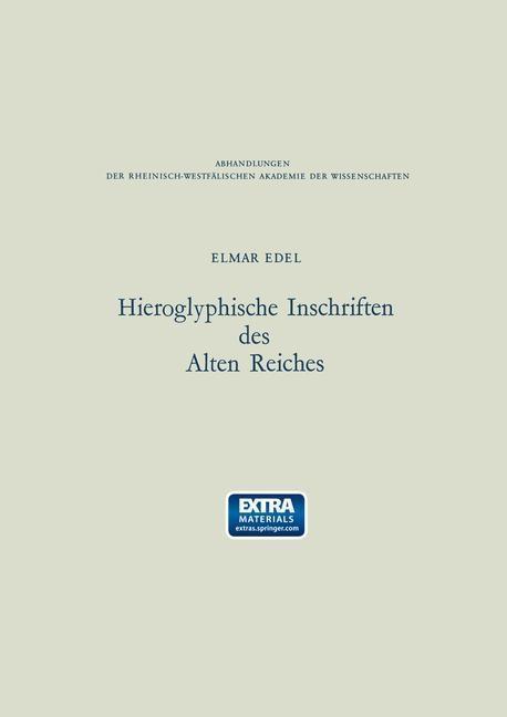 Hieroglyphische Inschriften des Alten Reiches a...
