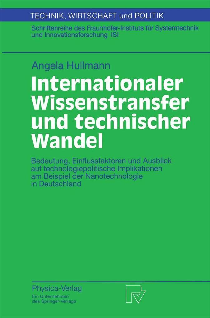 Internationaler Wissenstransfer und Technischer...