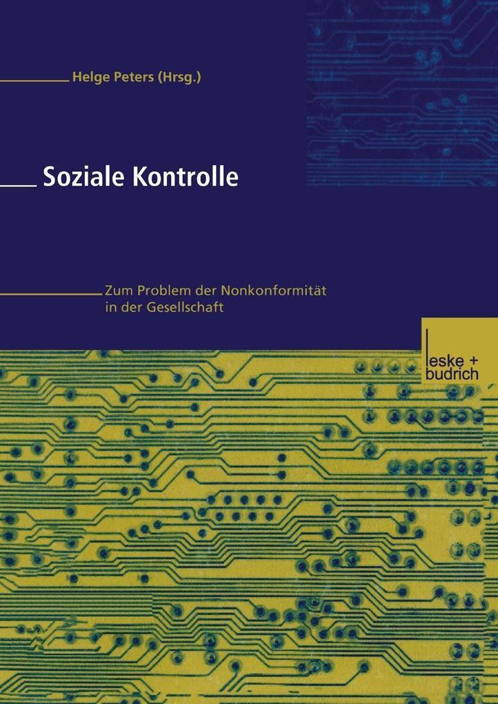 Soziale Kontrolle als eBook Download von