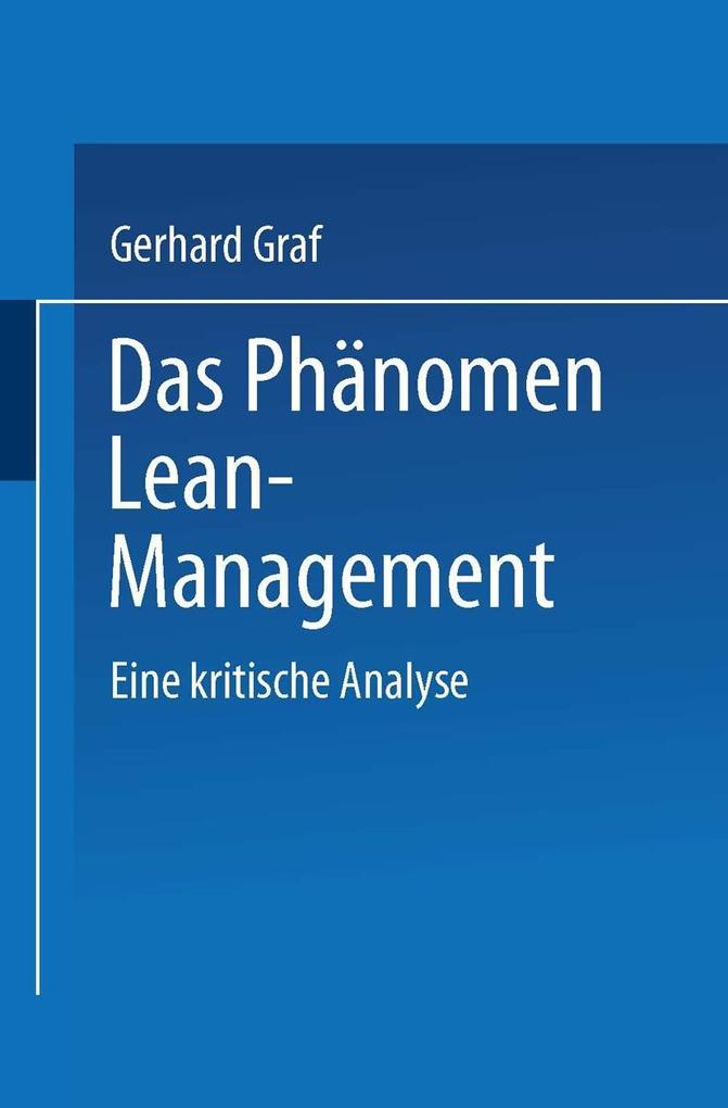 Das Phanomen Lean Management als eBook Download...