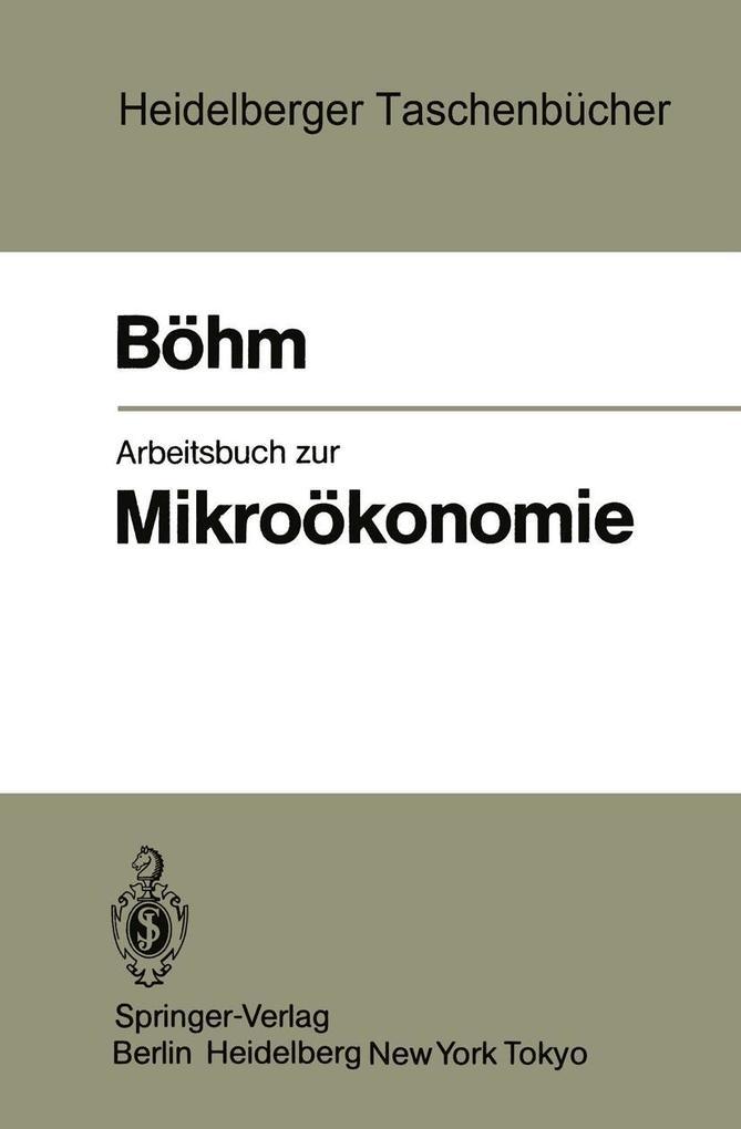 Arbeitsbuch zur Mikrookonomie als eBook Downloa...