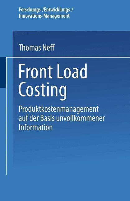 Front Load Costing als eBook Download von Thoma...