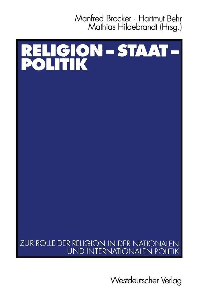 Religion - Staat - Politik als eBook Download von