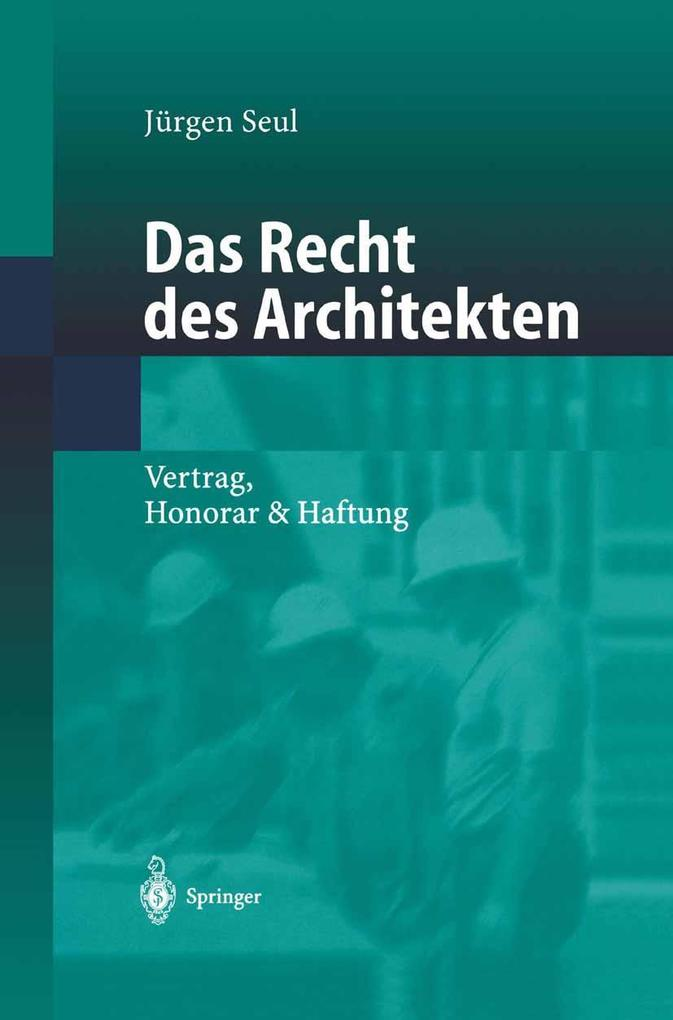 Das Recht des Architekten als eBook Download vo...