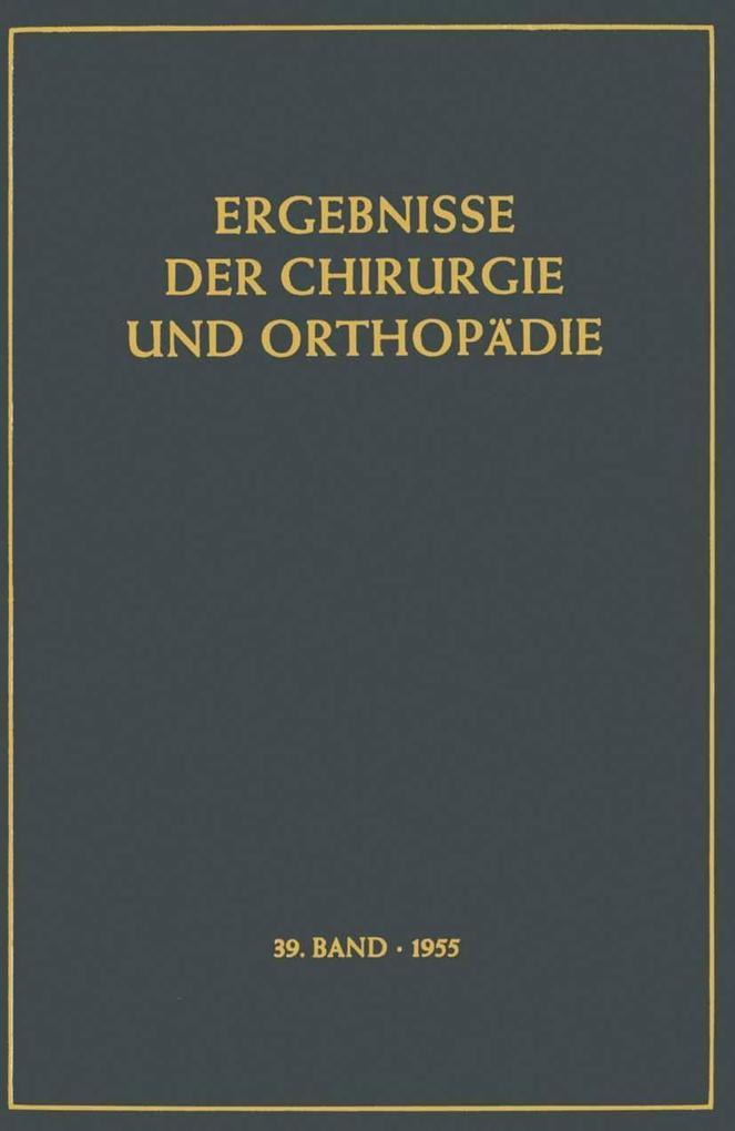 Ergebnisse der Chirurgie und Orthopadie als eBo...
