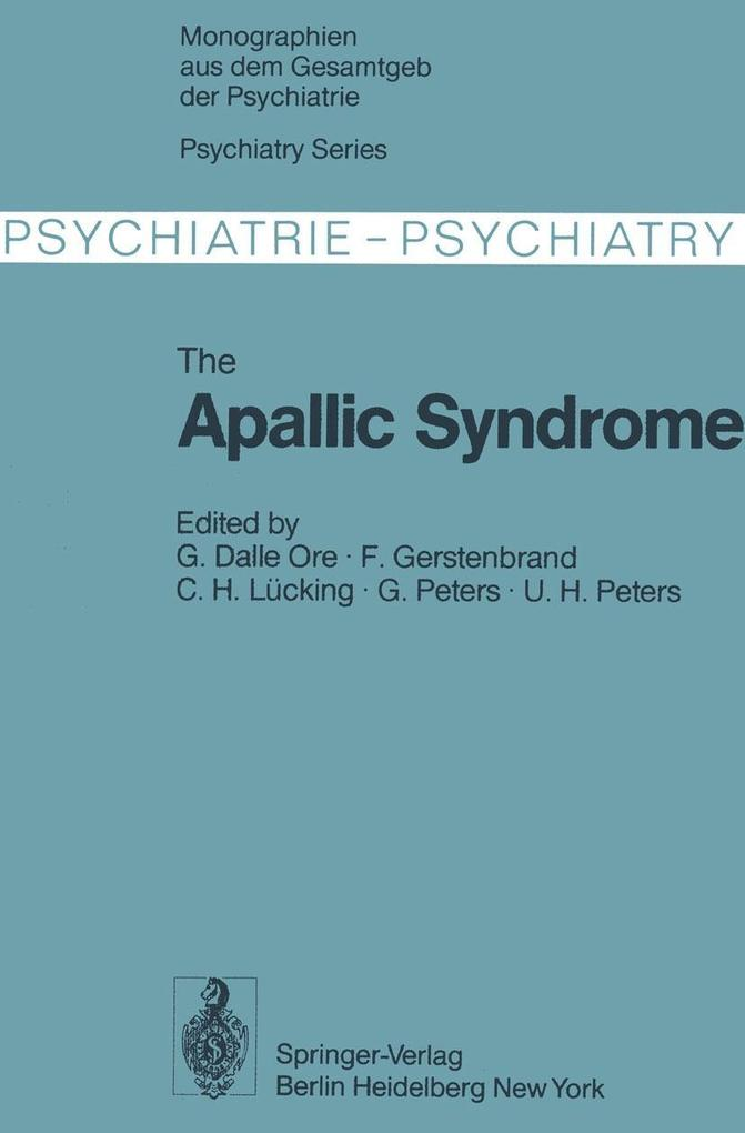 Apallic Syndrome als eBook Download von