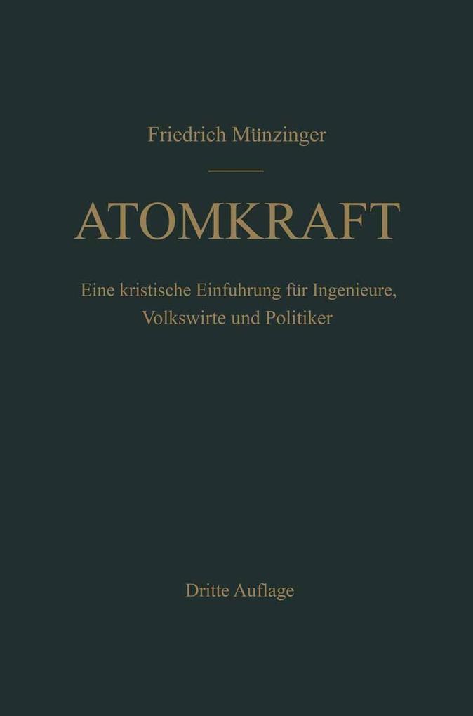 Atomkraft als eBook Download von F. Munzinger