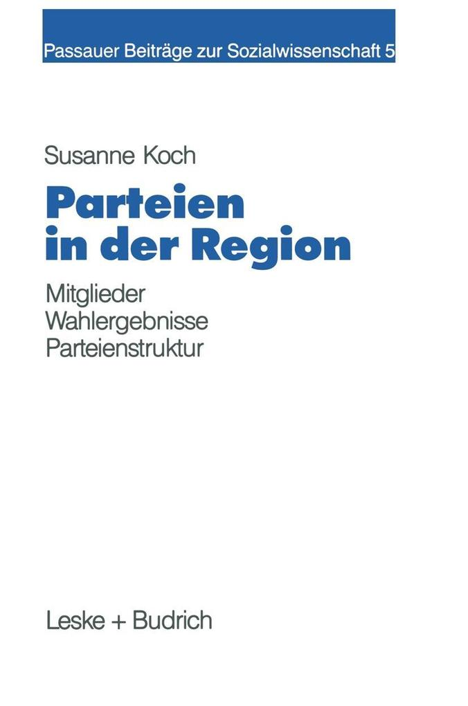 Parteien in der Region als eBook Download von S...