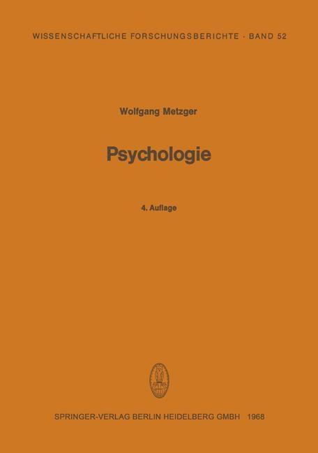 Psychologie als eBook Download von Wolfgang Met...