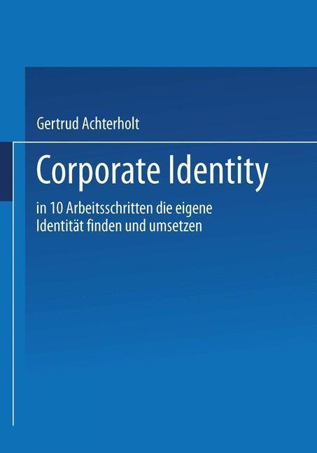 Corporate Identity als eBook Download von Gertr...