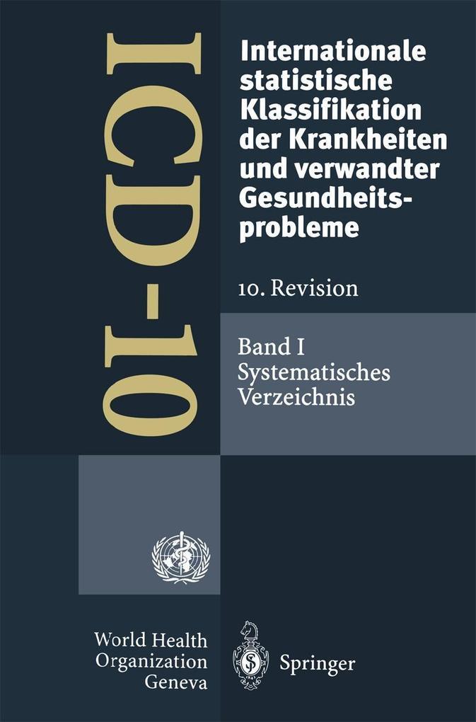 ICD-10: Internationale statistische Klassifikat...