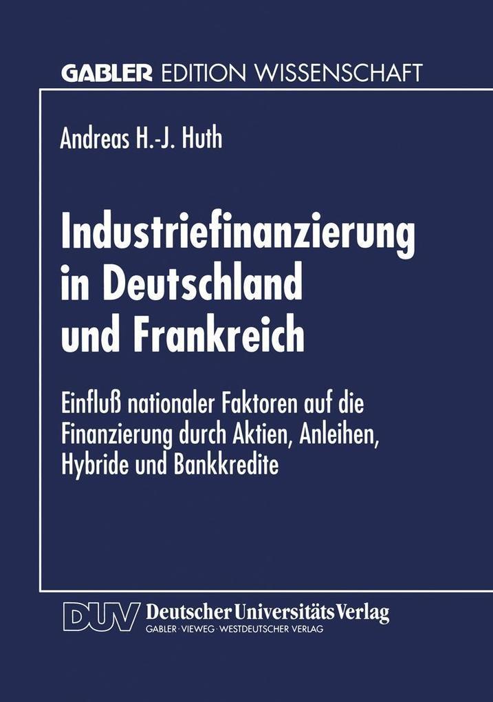 Industriefinanzierung in Deutschland und Frankr...