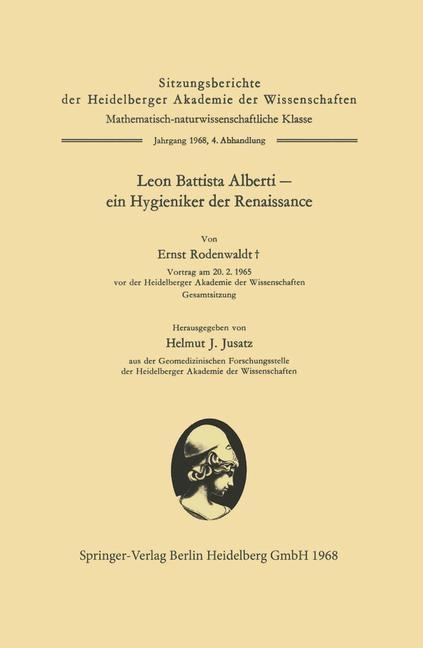 Leon Battista Alberti - ein Hygieniker der Rena...