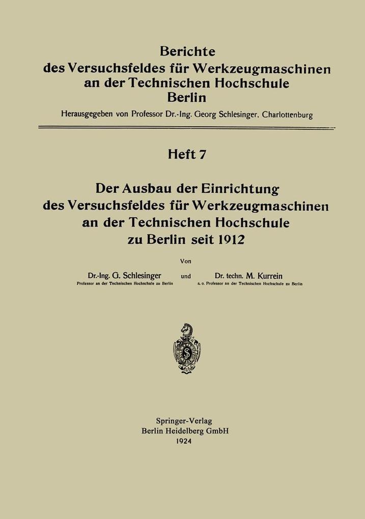 Der Ausbau der Einrichtung das Versuchsfeldes f...